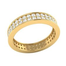 1.15 ct D/VSS1 Simulated Diamond 14k Solid Gold Full Eternity Wedding Band Ring