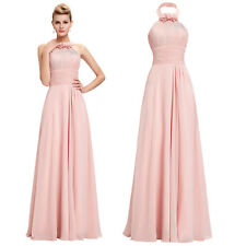 Elegant New Long Bridesmaid Dress Halter Prom Gown Formal Evening Party Cocktail