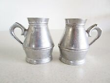 "Salisbury Pewter Small Cups Set of 2 Vintage Stamped 2 3/4"" Made in USA Barware"