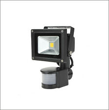 10W 12V 110V LED Flood Light With PIR Motion Sensor Outdoor Lamp Cool Warm White