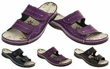 Womens COOLERS Leather Velcro Sandals Ladies Flat Summer Shoes Sz Size 4 5 6 7 8
