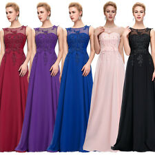 PLUS SIZE Chiffon Wedding Evening Pageant Party Ball Gown Prom Bridesmaid Dress