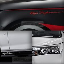 """Universal All Vehicle """"High Performance"""" Racing Sports Decal Sticker 6 Color 2EA"""