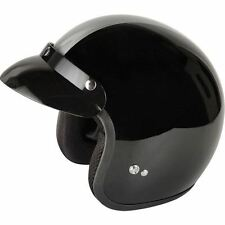 Viper RS-04 Gloss Black Motorcycle Scooter Open Face Retro Motorbike Helmet
