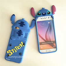 Cute 3D Disney Stitch Silicone soft Case cover for samsung galaxy S6 S7 iphone X