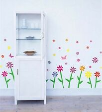 Colour Flowers Wall Decor Vinyl Sticker Decal Deco Removable Kids Art Home Live