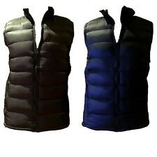 Adults Men's Vest Puffy Warm Sports Casual Mens Winter Quilted Vest Black Green