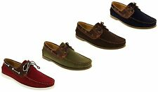 Mens SHORESIDE Deck Shoes Casual Boat Formal Smart Work Lace Up Size 7 8 9 10 11