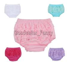 Baby Infant Girls Lace Ruffles Bloomer Panties Briefs Diaper Nappy Covers 3-24M