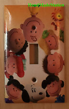 Peanuts Snoopy Charlie & Friend Light Switch Power Outlet Cover Plate Home Decor