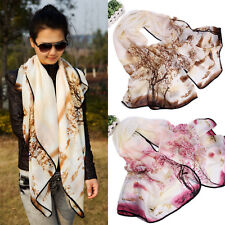 Fashion Women Scarf Soft Voile Sarong Long Tree Print Wrap Shawl Stole Scarves