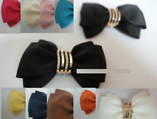 Fashion Crystal Color Ribbon Bow Butterfly Shoe Charm Clips