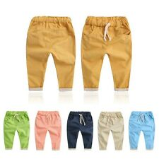 2-7Y Toddler Kids Boy Girl Trousers Baby Children Summer Trousers Harem Pants