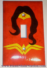 Wonder Woman Logo Switch & Duplex Outlet Cover Plate