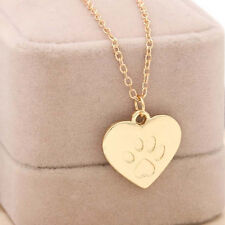 Heart Shape Silver Pendant Chain Necklace LOVE  Gift Pretty Jewelry