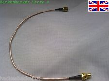 30cm RP-SMA male to RP-SMA female nut bulkhead Straight Pigtail cable