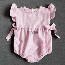 Newborn Clothes Baby Girls Summer Romper Pink Bodysuit Playsuit One-Piece Outfit