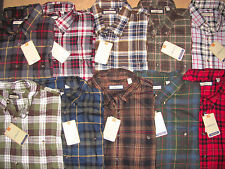 G.H. BASS $40 MENS $50 FLANNEL SHIRT PLAID 10 COLORS BUTTON DOWN LONG SLEEVE NWT
