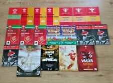 Wales v Australia Rugby Programmes 1958 - 2005