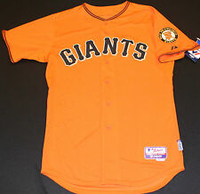 San Francisco Giants Authentic Cool Base Orange Style Jersey By Majestic