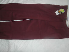 MENS LAWN BOWLS BA LOGO OFFICIAL BRAND TROUSERS, MAROON