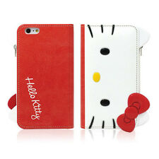 Hello Kitty iPhone 6/6s Plus Case Wallet Cover Clutch Coin Purse Mirror 3Colors