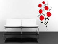 Wall Art sticker decal vinyl 0072 poppy poppies flower stems remembrance