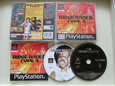 Ridge Racer Type 4 For Sony Playstation 1 / PS1 Complete PAL + Hi Spec Demo