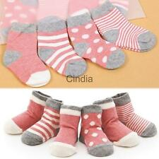 4 Pairs Cute Newborn Baby Infant Boys Girls Cotton Ankle Socks Stockings 0 - 3Y