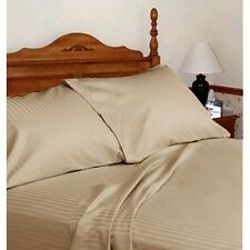 Comfort bedding 1000 TC 100% Egyptian Cotton Bed Sheet Set Taupe Stripe