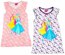 Girls Nightdress Nighty Butterfly Disney Princess Belle Cinderella 3 to 6 Years