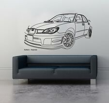 Wall Art sticker decal vinyl 0120 Subaru Impreza, Sports Car