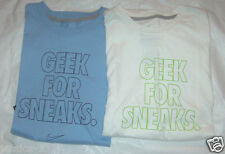 NIKE Mens T-Shirt Blue or White Sizes Vary NWT Regular Fit ( Geek For Sneaks)