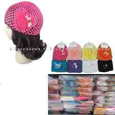 Lot of 12 Girl's Newborn Baby CROCHET waffle BEANIE kufi HAT cap Wholesale Dozen