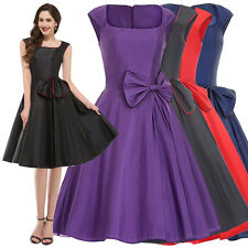 ROCK N ROLL VINTAGE 1950'S STYLE SWING EVENING PARTY PINUP DRESS PLUS SIZE S-XL