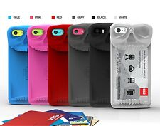 CA 6 Color Skull Card Stand Case for iPhone 5 5S 5C Skeleton iPhone stand Cases