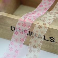 Small Simple Floral Print Patterns Organza Sheer Ribbon Wholesale 9mm 25mm 38mm