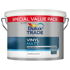 7.5L Dulux Trade Vinyl Matt Brilliant White or Magnolia