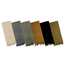 SHEMAGH 100% Cotton ARAB SCARF KEFFIYEH FASHION SCARF Solid colors All Colors