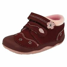 Start Rite Girls Bugundy Pixie Cruiser/Pre Walker Shoes