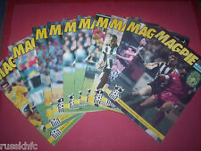 1991/92 - NOTTS COUNTY HOME PROGRAMMES CHOOSE FROM