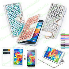 Luxury 3D Bling Bow Knot Leather Wallet Case Cover For Samsung Galaxy S5 V i9600