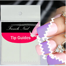 5/10 Sheets Creative French Manicure Wave Edge Tip Guides Nail Art Stickers Nice
