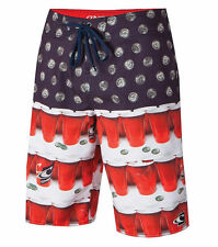 ONEILL RED QUARTERS SURF BOARSHORTS SWIMMING TRUNKS MENS 29 30 31 32 33 34 NWT