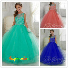 Baby Princess Bridesmaid Flower Girl Dress Wedding Party peagant custommize new