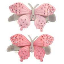 Womens Bridal Crystal Butterfly Rhinestone Hair Pins Hairpin Clip Barrette