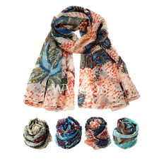 Women Fashion Scarf Cashew Flowers Chiffon Scarf Long Voile Scarves Shawl Stole