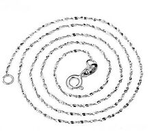 """S925 Sterling Silver Starry Sky 0.8mm chain Necklace/18""""/16""""/18K Platinum Plated"""