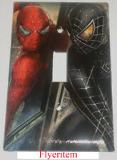 Black & Red Spiderman Light Switch & Power Outlet Cover Plate