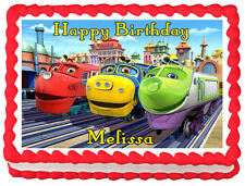 CHUGGINGTON Birthday Image Edible Cake topper